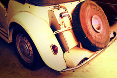 Close Up of a Vintage Car stock photography