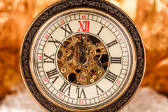 Close up on vintage clock Stock Images