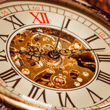 Close up on vintage clock Stock Photos