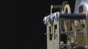 Close-up of a vintage clock mechanism running stock video