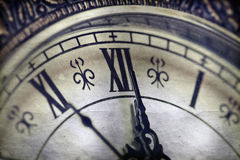 Close up on vintage clock Royalty Free Stock Photography