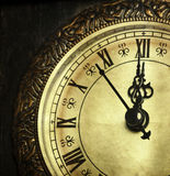 Close up on vintage clock Royalty Free Stock Image