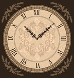 Close-up vintage clock with vignette arrows Stock Photo