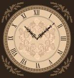 Close-up vintage clock with vignette arrows Stock Photo