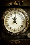Close up on vintage clock Royalty Free Stock Photos