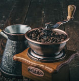 Close up vintage coffee grinder Stock Photos