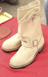 Close up of vintage cowboy boots Royalty Free Stock Photography
