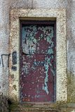 Vintage dark red painted door. Stock Image