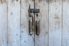 Close up of vintage door locked.  Royalty Free Stock Images