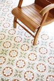Close up vintage floor and vintage chair Royalty Free Stock Photo