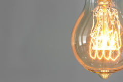 Close up of vintage fluorescent illumination . Stock Photo