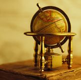 Close-up of a vintage globe royalty free stock photos