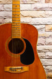Close up vintage guitar Royalty Free Stock Photography