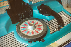 Close up of a vintage jukebox Royalty Free Stock Photo