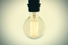 Close up of vintage light bulb Royalty Free Stock Images