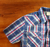 Close up of vintage male shirt, Checkered pattern. Stock Images
