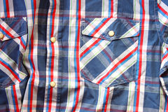 Close up of vintage male shirt, Checkered pattern Stock Image
