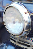 Close up of vintage motor tricycle headlights Royalty Free Stock Image