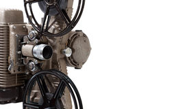 Close-up of a vintage 8 mm movie projector on a wh Stock Photos
