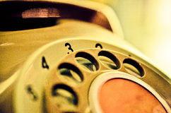 Close up of  Vintage phone dial Royalty Free Stock Photography