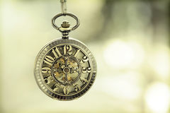 Close up on vintage pocket watch Royalty Free Stock Image