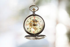 Close up on vintage pocket watch Stock Photos