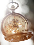 Close up on vintage pocket watch Royalty Free Stock Photos