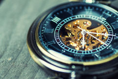 Close up of vintage pocket watch Royalty Free Stock Images