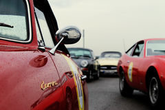 Close-up of a vintage Porsche 356 Royalty Free Stock Photography