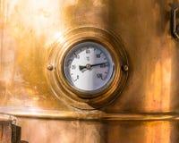 Close-up vintage pressure gauge Stock Photography