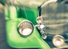 Close up of a vintage retro classic car Stock Photography