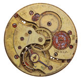 Close-up of a vintage rusty clock Royalty Free Stock Images