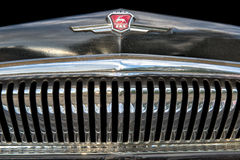 Close up of the vintage soviet vehicle GAZ-21 Royalty Free Stock Photography
