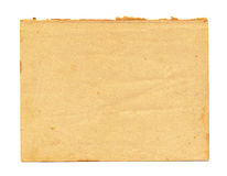 Close up of a vintage note paper on white background Royalty Free Stock Images