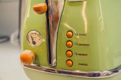 Close up of vintage toaster Royalty Free Stock Images