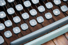 VINTAGE TYPEWRITER. Close up of vintage typewriter keyboard royalty free stock photos