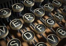 Close up of vintage typewriter keys Stock Images
