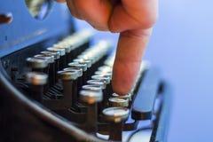 Close up of vintage typewriter. Royalty Free Stock Images
