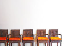 Close up vintage wooden chairs Royalty Free Stock Photography