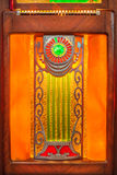 Close up of a vintage wooden jukebox Royalty Free Stock Photo