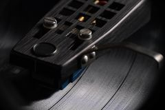Close up of vinyl record playing II Stock Image