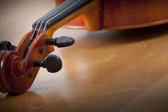Close up of violin Royalty Free Stock Photos