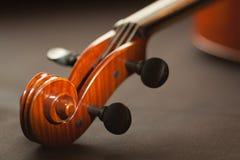 Close up of violin Stock Photo