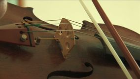 Close up on violin stock video footage