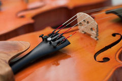 Close up violin bridge Stock Photo