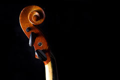Close up of a violin isolated on black Stock Images