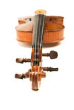 Close-up of the violin over white Royalty Free Stock Photo