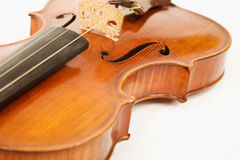 Close-up of the violin over white Stock Images
