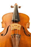 Close-up of the violin over white Stock Photography