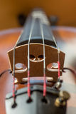 Close up of violin in vertical orientation Stock Photography